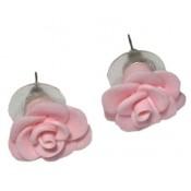 Cercei fimo Trandafir Roz