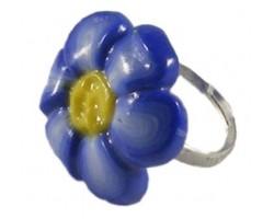Inel Flor Azul